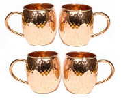 Hammered Copper Barrel Mug for Moscow Mules Size 470ml Set Of-4
