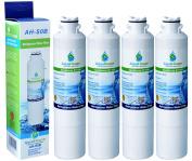 4x AH-S0B Compatible for for for for for for for for for for for Samsung DA29-00020B, HAF-CIN/EXP, DA97-08006A-B Water Filter, DA29-00020A Fridge filter