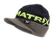 Matrix Black/Grey/Lime Peaked Beanie One Size Fits All