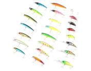 YOOYOO PROBEROS DW - MI006 43pcs / Lot Minnow Popper Crank Fishing Bait Fish Lure Tackle