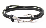 Adjustable Fish Hook Bracelet - 550 Military Paracord with Fish Hook Pendant - also worn as Necklace or Ankle Bracelet