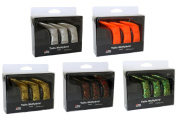Abu Garcia Mchybrid Tails (Pack of 15) - Gold/White/Fluorescent Orange/Green Parrot/Brown