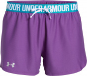 Under Armour Women's Play up Shorts-Orange, Small