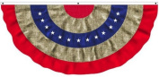 Patriotic Bunting Pleated Flag by Evergreen Flag & Garden