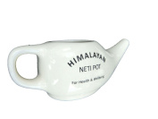 New Neti Health Ceramic Neti Pot And Himalayan Neti Salt+200GRM Salt Free