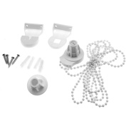 New 2M Bead Chain 25mm Roller Blind Curtain Fitting Brackets Set