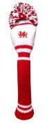 Asbri Golf Pom Pom Fairway Woods Wales Head Cover - Red