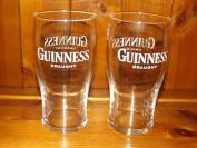 GUINNESS GLASS x 2 DRAUGHT GUINNESS GLASS x 2