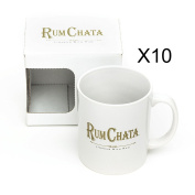10 Rum Chata Ceramic Branded Mug Cup Liqueur Hot Chocolate Drink Coffee White Official Branded New Boxed