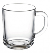 'PASABAHCE 55029 - Pub Tea Glass with Handle, for Tea, Latte Macchiato, Irish Coffee, Punch, Mulled Wine, Hot Chocolate, Set of 2