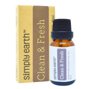 Clean & Fresh Essential Oil Blend by Simply Earth - 15ml, 100% Pure Therapeutic Grade