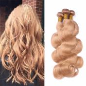 Tony Beauty Hair Honey Blonde Human Hair Bundles 3Pcs/Lot Body Wave #27 Brazilian Virgin Hair Extension 10-80cm For Woman