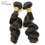 V-Emma Brazilian Loose Wave Virgin Hair 2 Bundles Unprocessed Human Hair Weave Natural Black 70cm 80cm