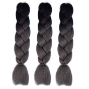 Alay & me 60cm 3Piece Jumbo Braid Extension Synthetic Kankelon Ombre Braiding Hair Ombre