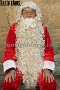 ZM Hair top quality Synthetic Santa Claus Beard Wig and moutache Set