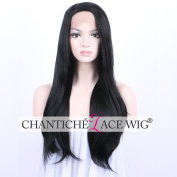 Chantiche Half Hand-made Synthetic Lace Front Wig Fashion Soft Long Natural Straight Full Hair Synthetic Lace Wigs for Ladies 22