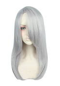 Cfalaicos Yuri!!! on Ice Victor Nikiforov Long Cospaly Wig Grey Synthetic Hair