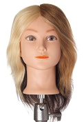 Pretty In a Minute 100% Real Human Hair Quad Manikin, Mannequin Mary, 1 Blonde, 2 Light Brown, 3 Grey, 4 Black
