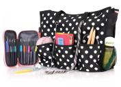 ROSEMARY Zip Top Utility Tote Bag – Knitting Yarn Organiser and/or Nappy Bag