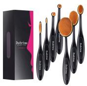 Duorime New 7pcs Black Oval Toothbrush Makeup Brush Set Cream Contour Powder Concealer Foundation Eyeliner Cosmetics Tool