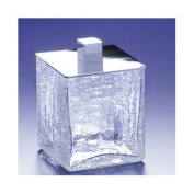 Square Crackled Glass Cotton Swab Jar Finish