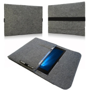 For Acer Switch Alpha 12 Felt Sleeve Case Laptop Case Notebook Bag Made From Felt in grey with inside pockets and Secure Fastening of Nauc