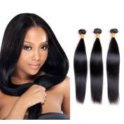 Bellishe Remy Hair Extensions Humam Hair Brazilian Hair One Bundles 100% Unprocessed Straight Hair Bundles Virgin Hair Natural Colour Length 36cm