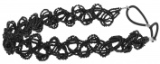 Capelli New York Ladies Mixed Beads Headwrap Black One Size
