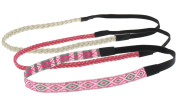 Capelli New York Ladies Multi Style Headwraps Pink Combo One Size