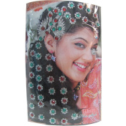 Indian Fashion Art Bollywood Head and Hair Tattoo Sparkling Stone Stick-On Reuseable Bindis