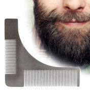 Moustache Trimmers, Template Comb Beard Styling Comb Premium Handmade Anti-Static Stainless Steel Fine Beard Brush Best for Beard & Moustache Beard Shaping Tool
