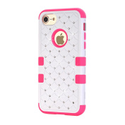 UCLL iPhone 7 Case, Glitter Bling Diamond Silica Gel Case for 12cm iPhone 7 With A Free Screen Protector