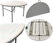 Harbour Housewares Folding, Events, Table - 1.2m Round. Foldable. Easy To Store