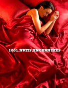 Red Satin Double Duvet Cover, Fitted Sheet and 4 Pillowcase Bedding Set