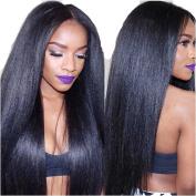 N.L.W.2017 NEW Brazilian virgin hair Italian kinky yaki Glueless full lace wigs for black women Natural colour soft natural human hair wigs