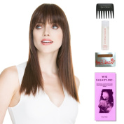 True (Human Hair) by Ellen Wille, Wig Galaxy Hair Loss Booklet, 60ml Travel Size Wig Shampoo, Wig Cap, & Wide Tooth Comb (Bundle - 5 Items), Colour Chosen