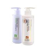 GEMS STYLE Pro-Techs Brazilian Keratin Treatment, Soft Straight for All Type of Hair Plus Clarifying Set, 250 mL/8.45 oz.