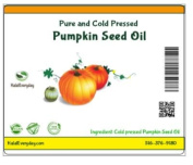 PUMPKIN SEED OIL - Pure & Cold Pressed - Grown in USA - 120ml Amber Glass Bottle - Helps skin retain moisture, fights free radicals & maintains youthful appearance - Vitamin E, zinc, omega 3 & 6