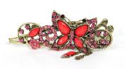 CAETLE Women Girl Beauty Butterfly Butterflies Flower Vintage Crystal Hair Clip Head Wear Holder