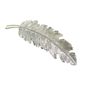 Feelontop Metal Leaf Shape Big Hair Clips with Jewellery Pouch
