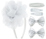 Capelli New York Girls Hair Accessory Set Silver Combo One Size