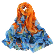 Datework Women Long Soft Colourful Wrap Shawl Voile Scarf