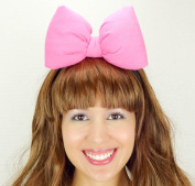 Bubblegum Pink Minnie Mouse Bow Headband Daisy Duck Inspired Handmade Hair Accessory by Sweet in the City
