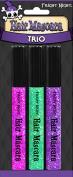 Fright Night Hair Mascara Glitter Trio Pink, Green & Purple - 3 ct