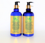 ORGANIC PROACTIVE, MOROCCAN ARGAN OIL, SHAMPOO & CONDITIONER DUO, Alcohol, paraben, sulphate and sodium chloride-free. UV Protectant. pH balanced, 500ml each