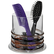 Arad Stackable Premium Quality Acrylic Headband and Hairbrush Holder