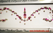 Bridal Bindi Pink Colour & authentic Crystals
