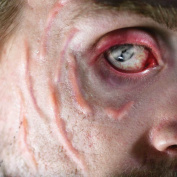 Tinsley Transfers SCARRED / Scars - Film Quality Realistic 3D Prosthetic Makeup FX Transfer. Apply With Water.
