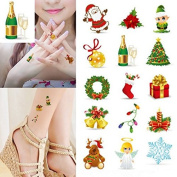Temporary Tattoos - Christmas Holiday Temporary Tattoo