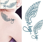 Temporary Angel Wings Tattoos Waterproof Body Arts Fake Tattoo Stickers